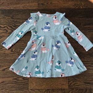 Polarn O Pyret poodle print dress 3-4 years